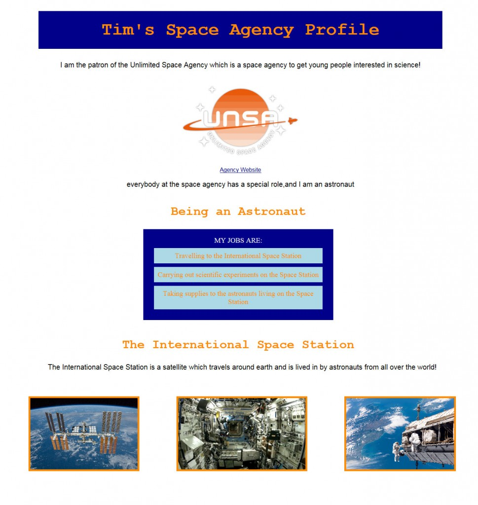 Tim's webpage
